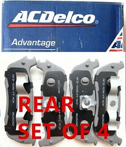 Rear Disc Brake Pad Set for 97-02 Ford Expedition 4.6L,ACDelco 14D711M Semi-Meta