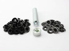 Einschlagwerkzeug 10mm  100 DIN Ösen Messing brüniert (schwarz) Ösenwerkzeug
