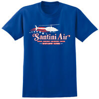 Santini Air Airwolf Inspired T-shirt - Retro 80s USA Helicopter Stunt TV Tee