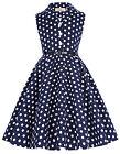 Girls Kids Vintage 1950s 60s Dot Pinup Rock N-Roll Swing Retro Party DANCE Dress