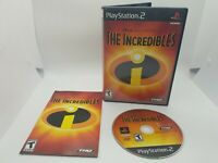 Incredibles (Sony PlayStation 2 2004) Complete Disney Pixar PS2 Game Case Manual