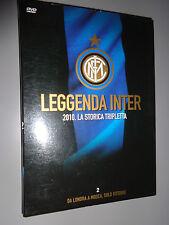 DVD N°2 LEGGENDA INTER 2010 LA STORICA TRIPLETTA DA LONDRA A MOSCA SOLO VITTORIE