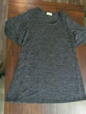 Womens Dress Size L Ladies Dark Gray Short Sleeve Cute Fun Classy Party Tunic