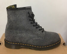 DR. MARTENS 1460 CHARCOAL + BLACK DOUBLE WOOL  BOOTS SIZE UK 3