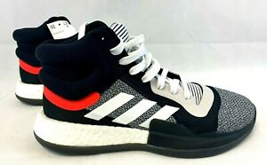 Adidas Marquee Boost Basketball Shoes Black/Red/White - Men's Size 10 - BB7822