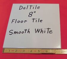 "1 pc. *Bright White* Daltile Ceramic Floor Tile  8"" X 8""   actual size 7-13/16"""