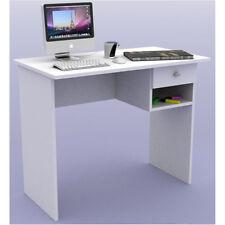 Mesa de ordenador, estudio, escritorio, oficina. 1 cajon + hueco. Color blanco