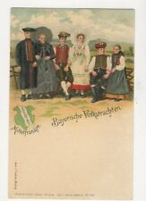 Mittlefranken Bayerische Volkstrachten Germany U/B Chromo Litho Postcard 480a