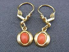 schöne alte Ohrhänger 333/-Gold Koralle ca. 40er Jahre