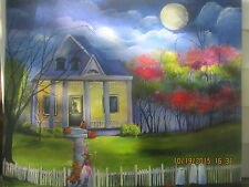Folk Art Halloween Trick or Treat Haunted Moon Ghost Fall Autumn Lizzy Rainey