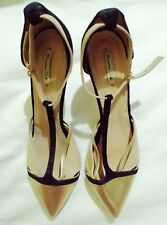 Massimo Dutti Pointed Sandals In Gold And Black Sz41 Fits 9-10