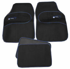 Fiat Stilo Panda Universal BLUE Trim Black Carpet Cloth Car Mats Set