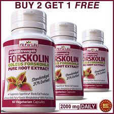 FORSKOLIN Coleus Forskohlii Pills Weight Loss 20% Extract Diet Slimming Capsules