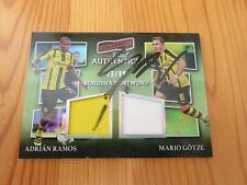 Götze Mario # signiert auto # 2016-17 Panini aficionado BVB Jersey Card 23/99