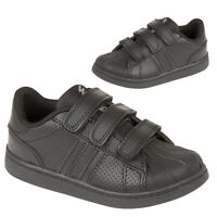 Boys School Shoes Kids Girls Trainers Childrens Back To School Touch Strap Size