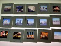 Lot 22 vintage 35mm slides 1970s Las Vegas-StarDust, Dunes, Lena Horne, airport
