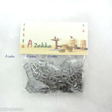 Bjd Doll Dress DIY Craft Material Mini Metal Buckle 5mm x 6mm Dark Grey (100pcs)