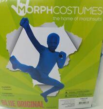 Blue Morphsuit Original Morph Suit Second Skin Costume Boy Size L 10-12 New