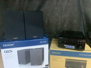 DENON RCD-M41DAB CD RECEIVER & SC-N10 SPEAKERS BOXED | BUY WITH CONFIDENCE!