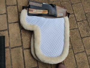 NUMNAH ROMA SHEEPSKIN WHITE CREAM 100% MERINO WOOL cob size