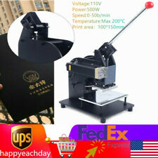 Hot Foil Stamping Machine Gold Embossing Logo Printing Gilding Press 100x150mm
