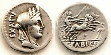 Republica Romana-Fabia. Denario. 104 a.C. Roma. MBC+/VF+. Plata 3,8 g. Escasa