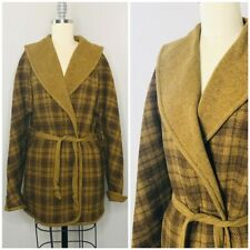 Vintage 60s 70s Womens Pendleton Capelet Jacket Size L Large Belted Plaid Wool