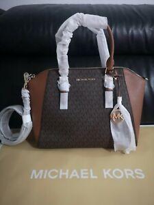 Women's Michael Kors Ciara Shoulder And Grab Bag Brand New Colour Brown