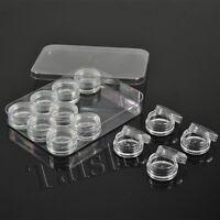 12 Kunststoff Döschen Behälter mit Schraubdeckel Tiegel für Nailart leer Neu