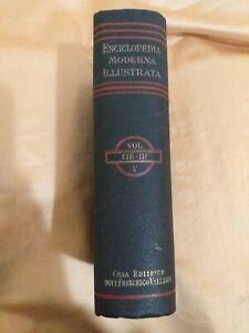 ENCICLOPEDIA MODERNA ILLUSTRATA CASA EDITRICE FRATELLI VALLARDI VOL 5 1924