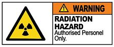 4 x - WARNING - RADIATION HAZARD - Sign Self Adhesive Removable Vinyl Sticker
