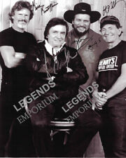 THE HIGHWAYMEN JOHNNY CASH, KRIS, WAYLON & WILEY AUTOGRAPHED REPRINT