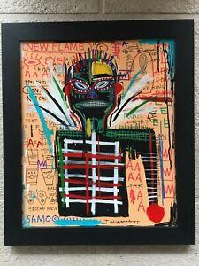 jean michel basquiat original oil on canvas 1982 Nosei Gallery