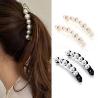 Banana Hair Clip Pearl Hairpins Hair Clips Banana Clip Headwear Accessories UK
