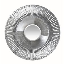 Large SUNBEAM Mirror Wall Hanging SILVER Round STATEMENT  HOME DECOR Accessory
