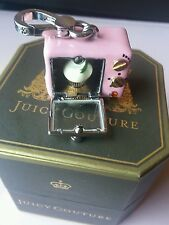 NWT Juicy Couture PINK CUPCAKE OVEN CHARM SILVER Rare for Necklace Bracelet Keyc