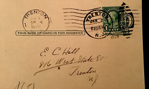 BEN FRANKLIN VINTAGE ONE CENT STAMP EXTREMELY RARE  POSTCARD- Collector 1929 YR