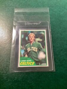 1981-82 Topps #4 Larry Bird Second Year Card EX+ CLEAN, SHARP & CENTERED (READ)☘