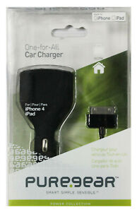 PUREGEAR 10W USB 2.1A CAR CHARGER ADAPTER + 30-PIN USB CABLE FOR iPAD 1 2 3