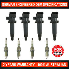 4x Genuine NGK Spark Plugs & 4x Ignition Coils for Toyota Corolla MR2