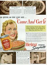 "Original Heinz Spaghetti Magazine Ad ""Tempting"" from The American Home Nov 1939"