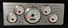 1940 Chevy Car GPS 5  Gauge Dash Cluster White