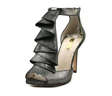 New LOUISE et CIE 8.5 heels sandal shoes stilettos zipper heel leather metallic