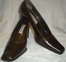 BRIGHTON Brown Premium Leather Sandra Heel Shoe 9M Made in Italy