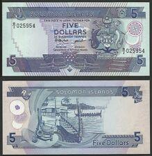 SOLOMON ISLANDS - 5 Dollars ND (1986) Pick 14a  UNC