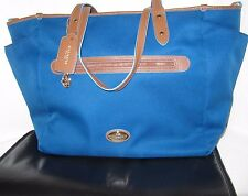 Coach Sawyer Mineral Blue Multifunction Tote Laptop Baby Diaper Bag F37758 $398