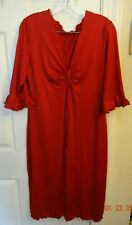 Women's Red 3/4 Sleeve Dress size XL