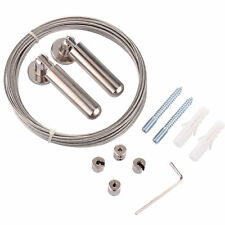 Curtain Wire Rod Set Stainless Steel, Multi-purpose, 5m Wire, 2 Mounting Pieces