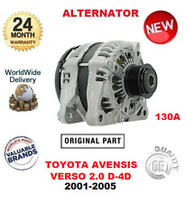 FOR TOYOTA AVENSIS VERSO 2.0 D4D 2001-2005 NEW ORIGINAL OEM 130A ALTERNATOR UNIT