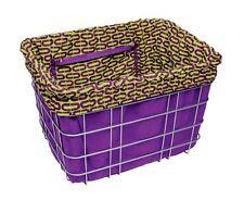 Electra Baskit Liner Purple/Ovals Inlay für Fahrradkorb, Wende Tasche Beute, Bag